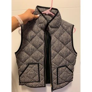 J Crew Herringbone Puffy Vest